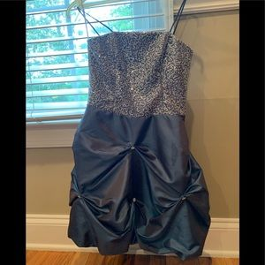 C.W. Design Girls Dress Custom Made in Blue Grey